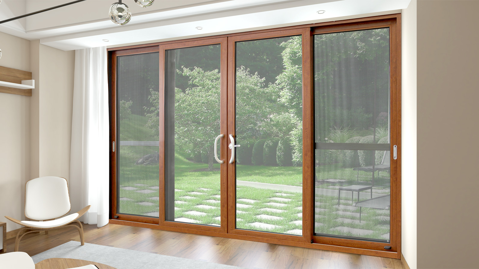 [Multi protection] Anti mosquito sliding door