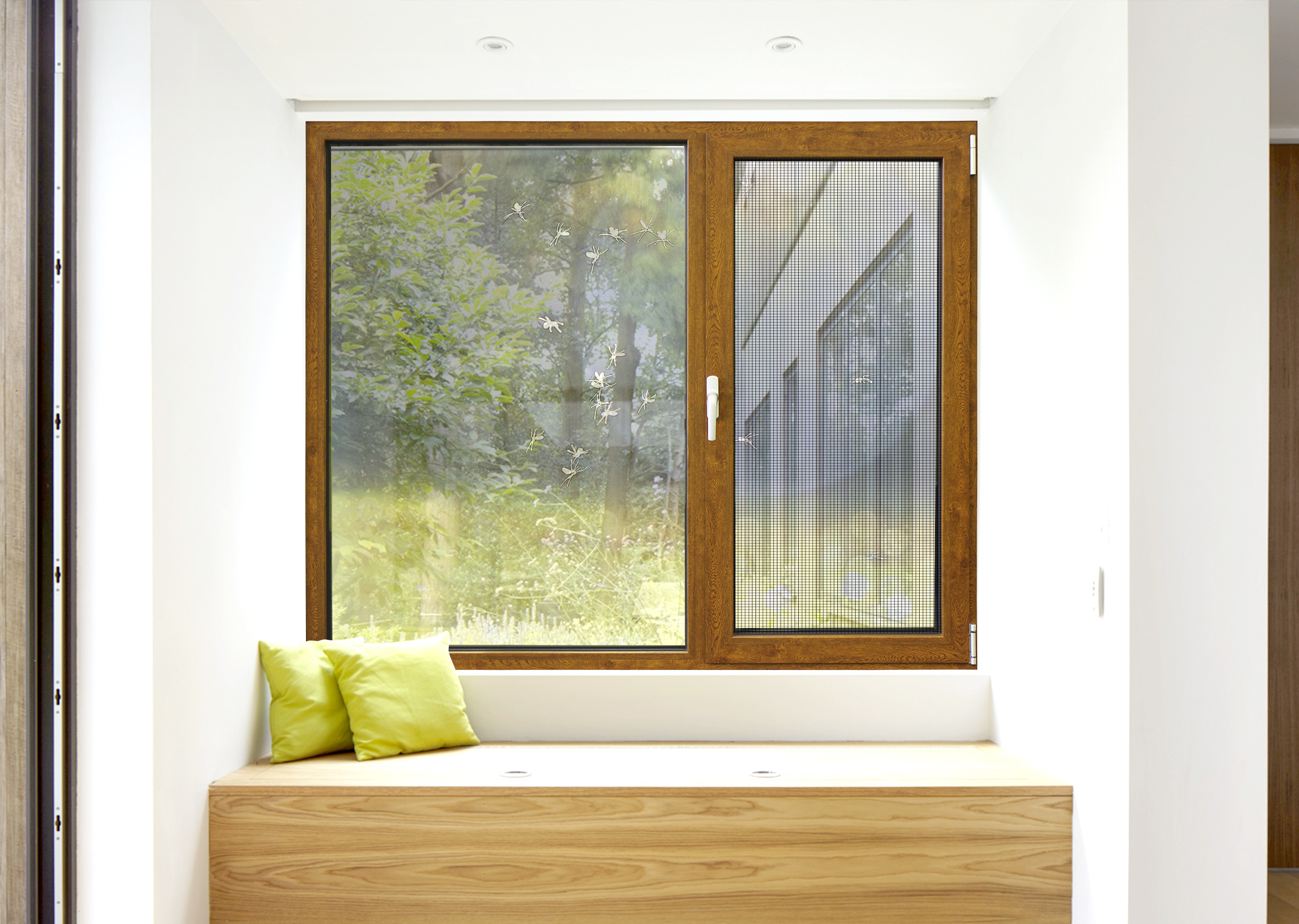 (Mosquito-Proof & Theft-proof window) Inner-open casement Mesh window